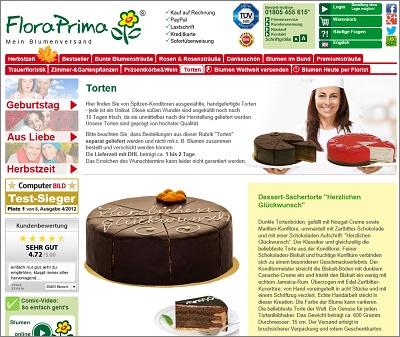 Blumenversand Anbieter Mit Tortenversand Günstige Torten Und Kuchen